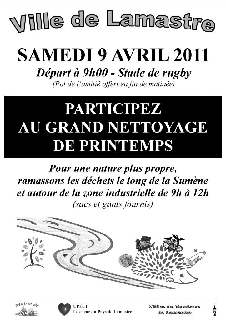 Affiche Nettoyage Printemps 2011