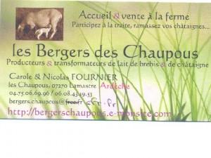 bergers chaupous
