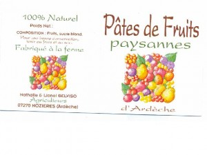 pates fruits