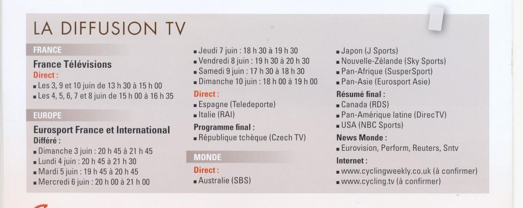 couverture mediatique critérium 2012