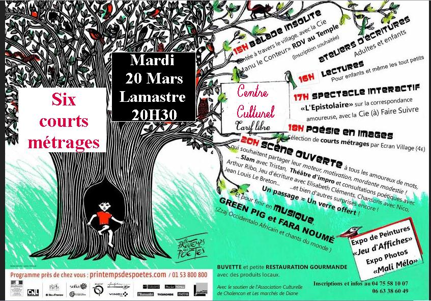 ecran village poésie Lamastre