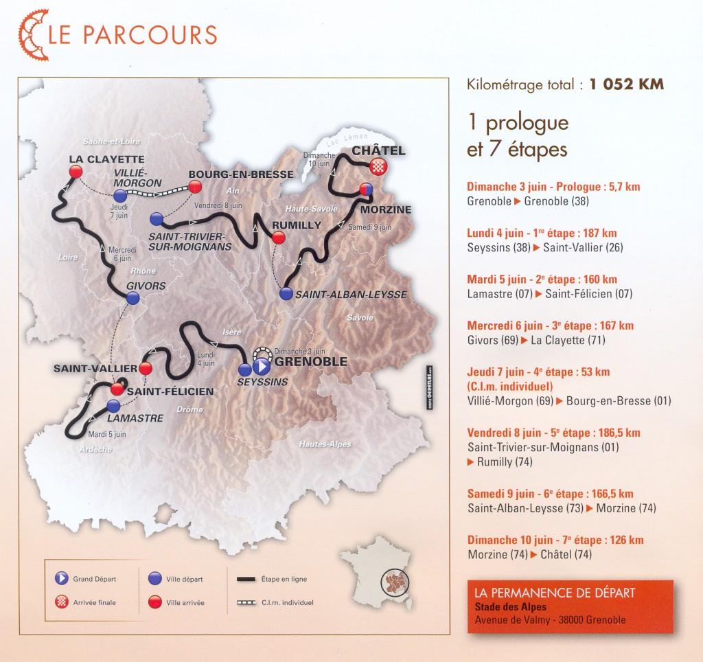 parcours criterium  D L 2012