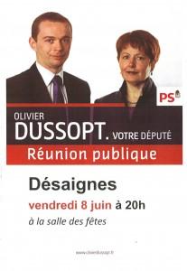 Olivier Dussopt député Desaignes 8 juin