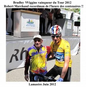 Marchand et Bradley Wiggins recordman heure, vainqueur tour  2012 ,