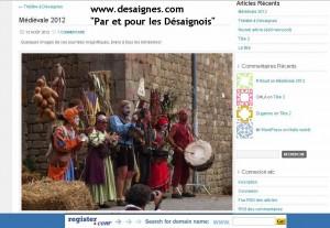 lancement www.desaignes.com