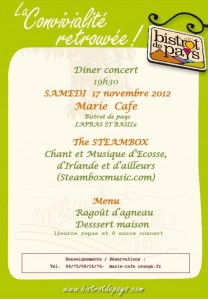 annonce steambox marie cafe