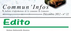 edito commun infos commune lamastre décembre 2012