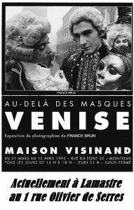 Affiche Venise France Vianes Brun cabinet Bouit