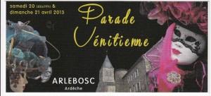 arlebosc parade venitienne 2013 r