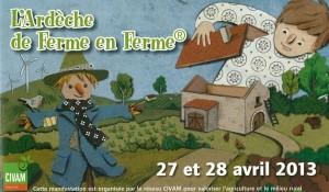 logo de ferme en ferme ardèche 2013