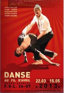 spectacle danse au fil avril lamastre 2013