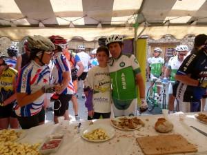 Roland Romeyer en vélo sur l'Ardechoise 2013