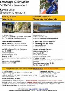 course orientation 2013 Vernoux Chalencon  F