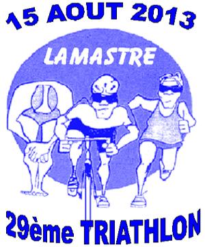 Affiche triathlon lamastre 2013