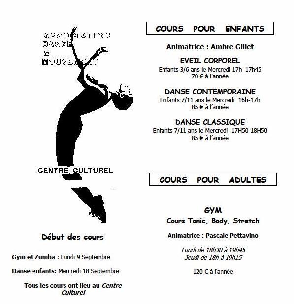 Association Danse Mouvement ADM lamastre programme 2013