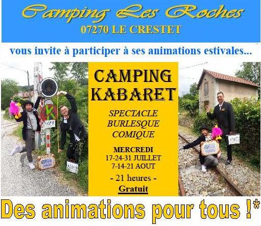 camping Kabaret les roches le crestet