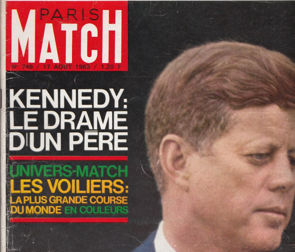 couverture paris match 749  du 17 aout 1963