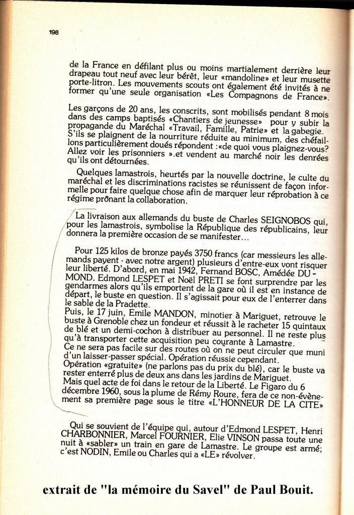 mémoire du savel citation buste mandon preti nodin, paul Bouit
