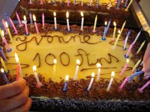gateau anniversaire yvonne portalier 100 ans