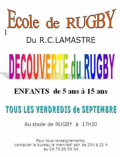 rugby école vendredi découverte 2013 lamastre
