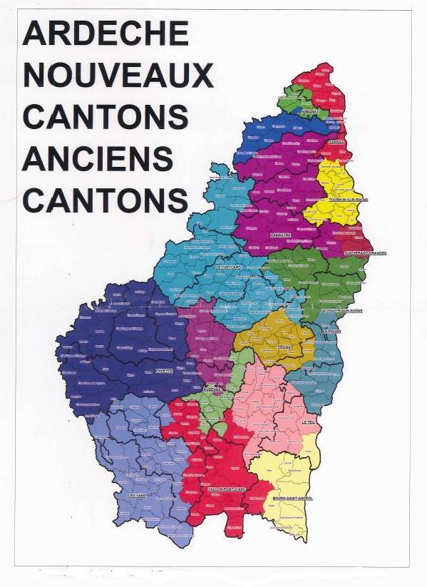 cartographie ardeche nouveaux et anciens cantons