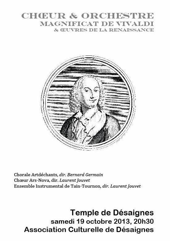 choeur et orchestre magnificat de vivaldi ACD Desaignes