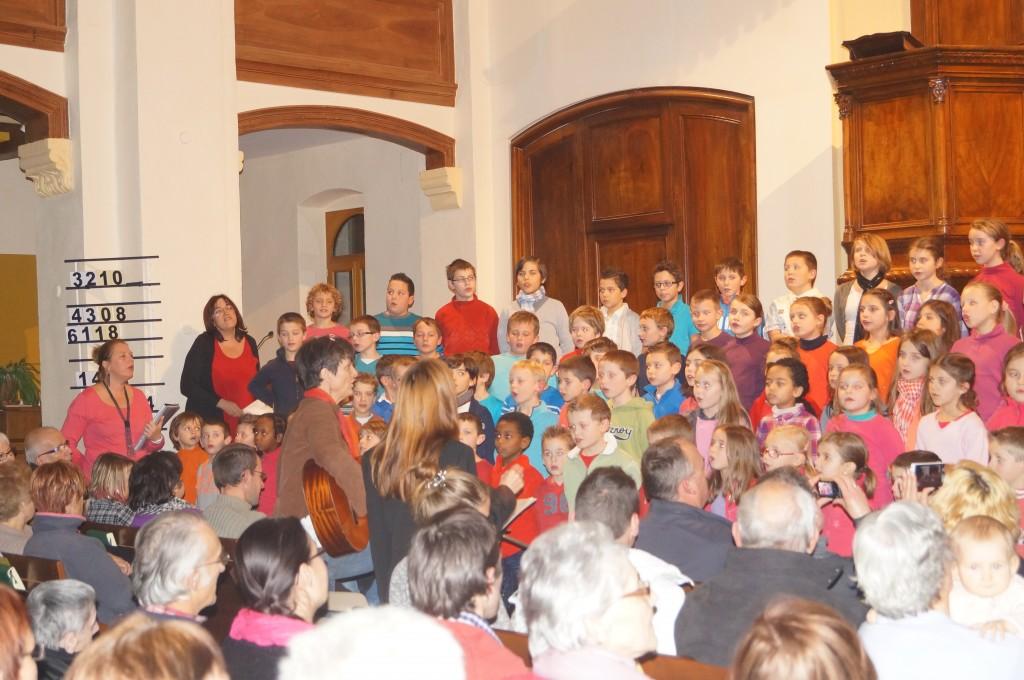 école Charles de Foucauld lamastre concert noel 2013