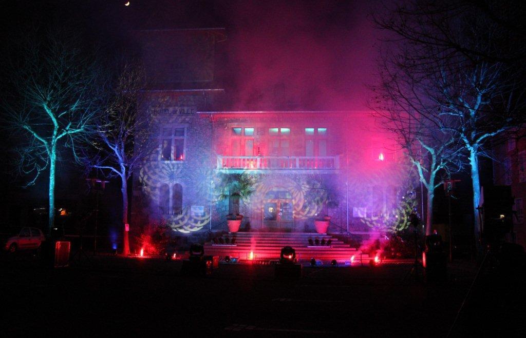 Marché de Noël mairie projections