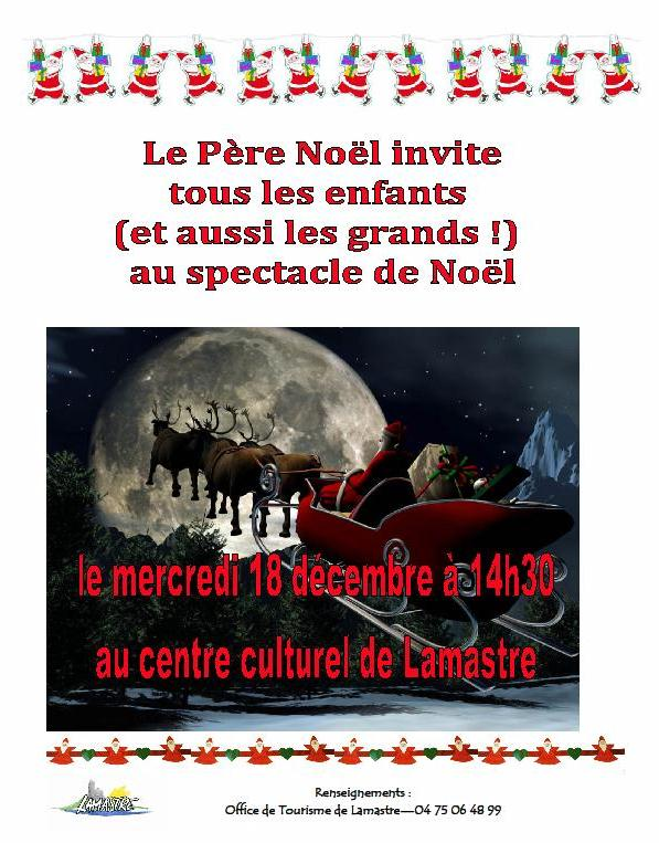 spectacle noel lamastre 2013 office tourisme