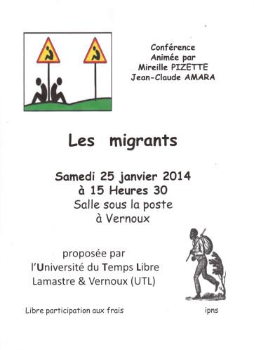 Les-migrants conférence  UTL