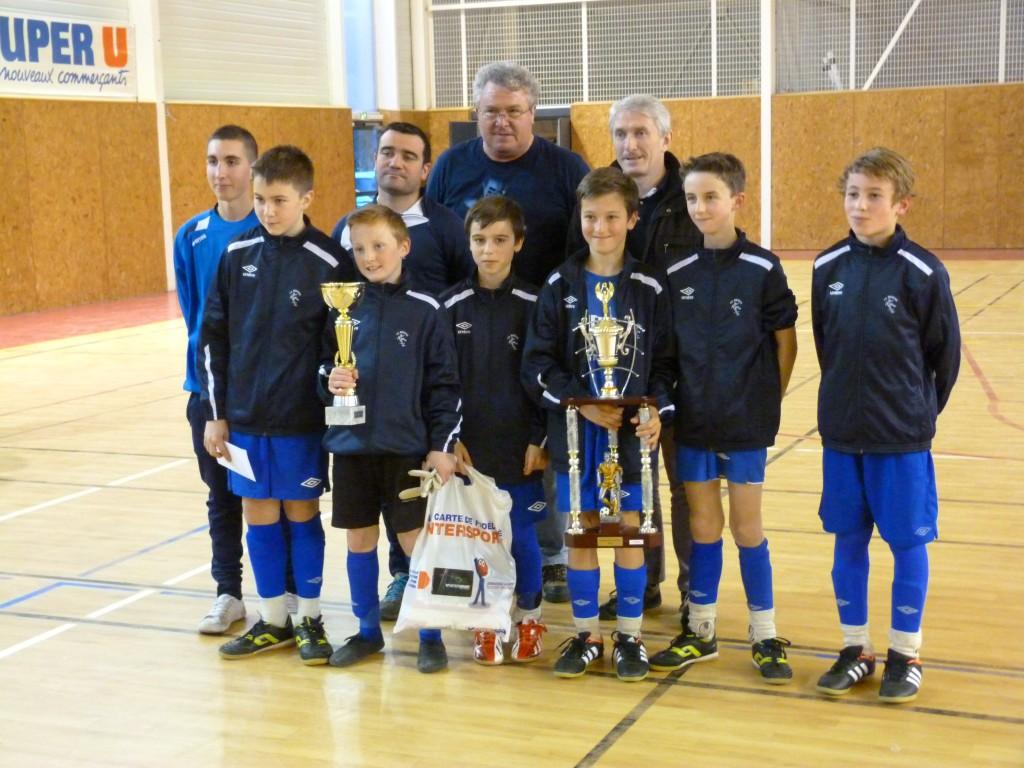 Vainqueur U13 st jean de muzols futsal lamastre