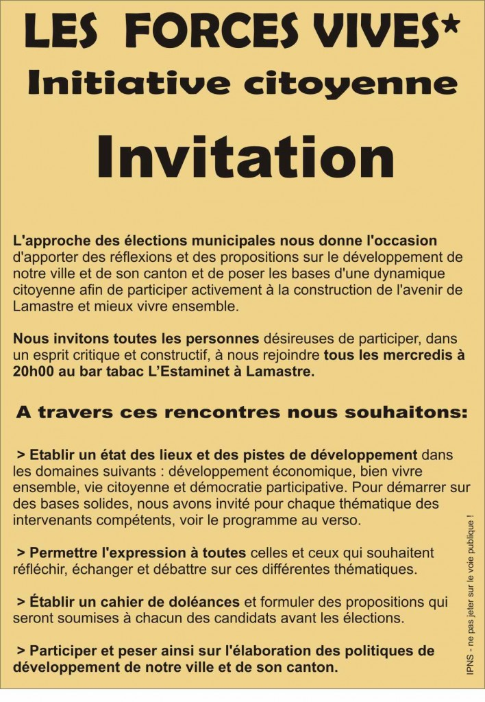 initiatives citoyennes Forces vives lamastre 1