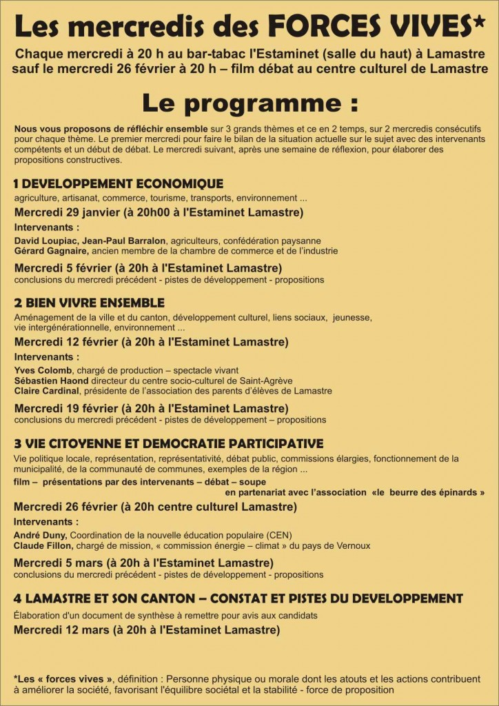 initiatives citoyennes Forces vives lamastre 2