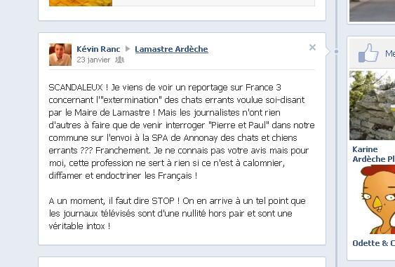 facebook kevin Ranc Les journalistes