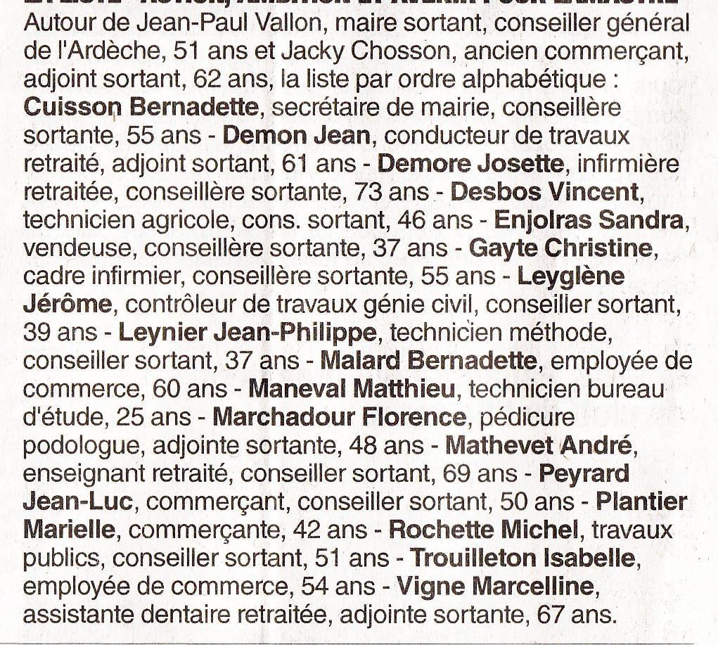 liste vallon municipale lamastre 2014