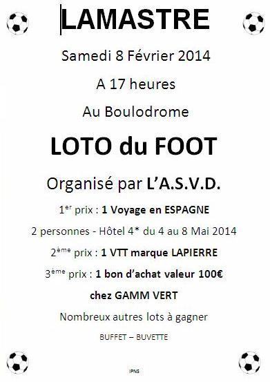 loto du foot ASVD 2014