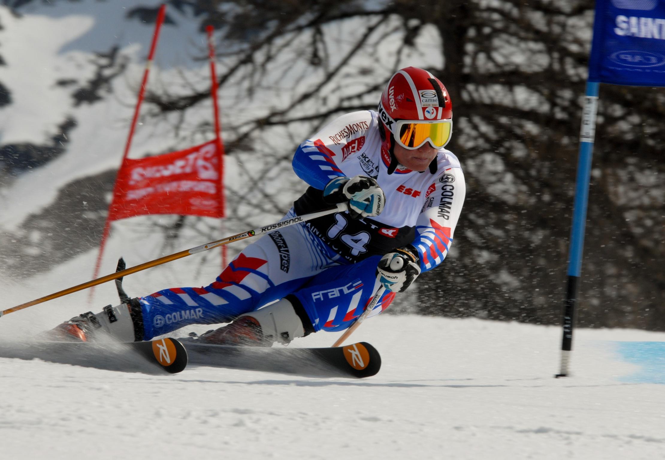 GUILLAUME GRAND Géant championnat france ski porte