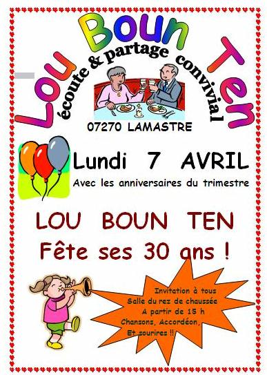 affiche avril lou boun ten 2014