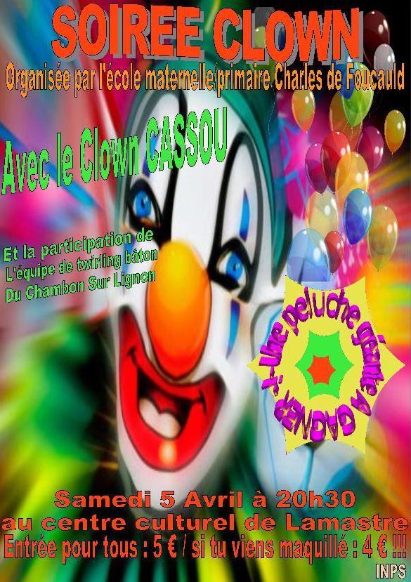 soirée clown APEL lamaste ecole privée