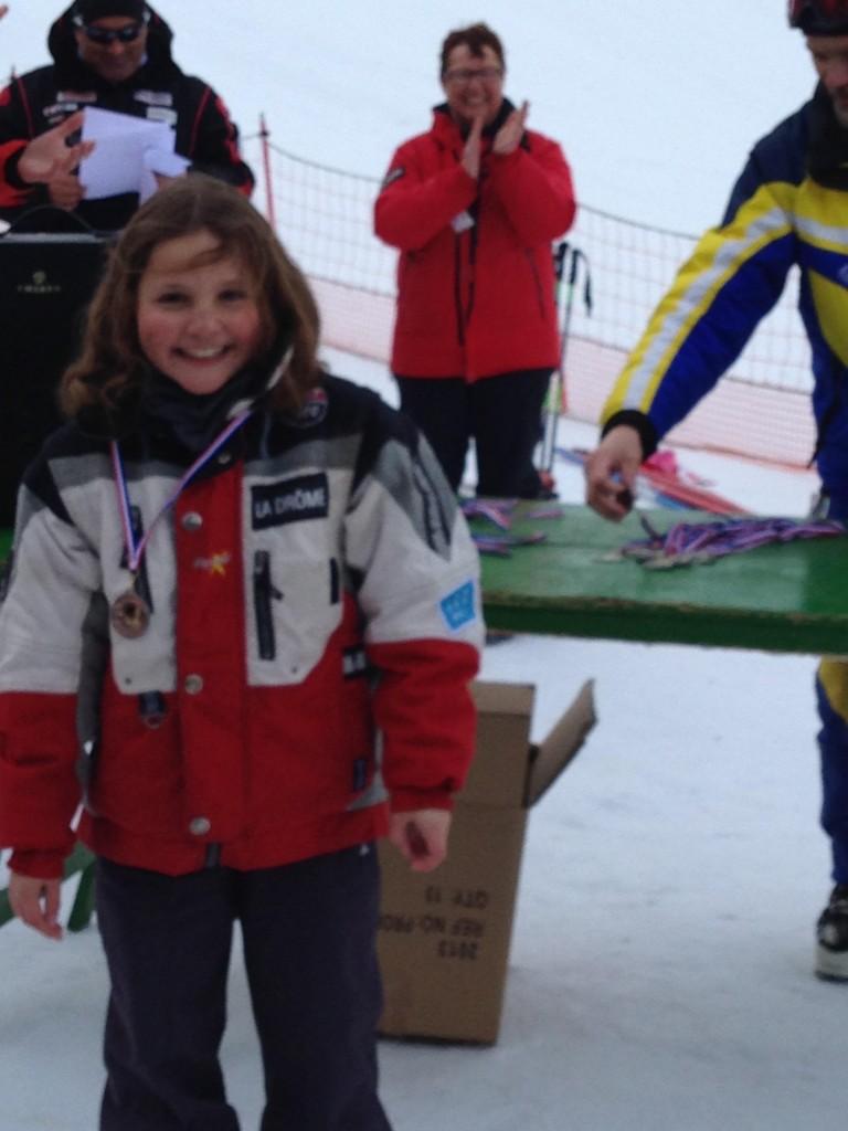 aurore bouquet  3 ieme championnat ski drome 2014