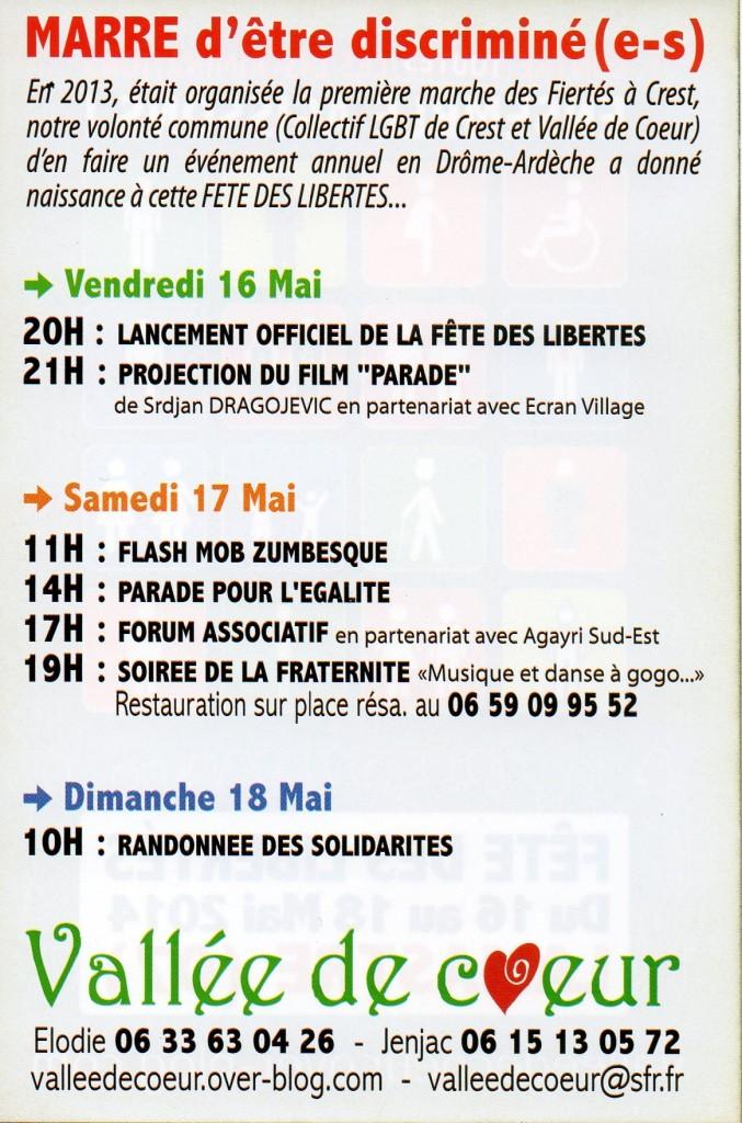 PROGramme fete liberte lamastre mai 2014