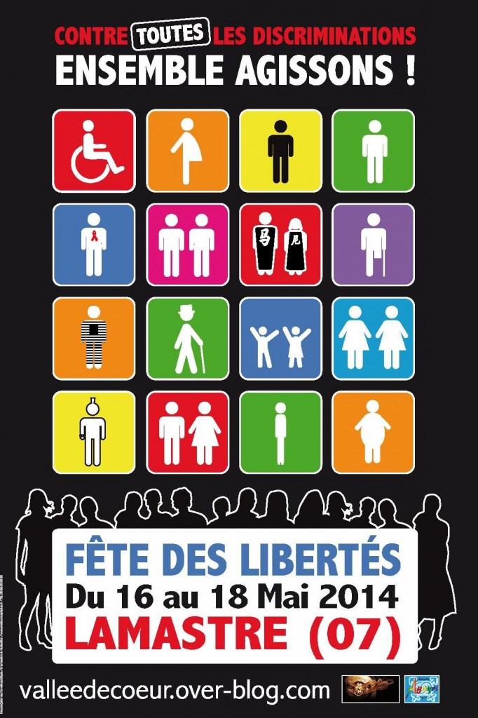 affiche fete des libertes lamastre mai 2014