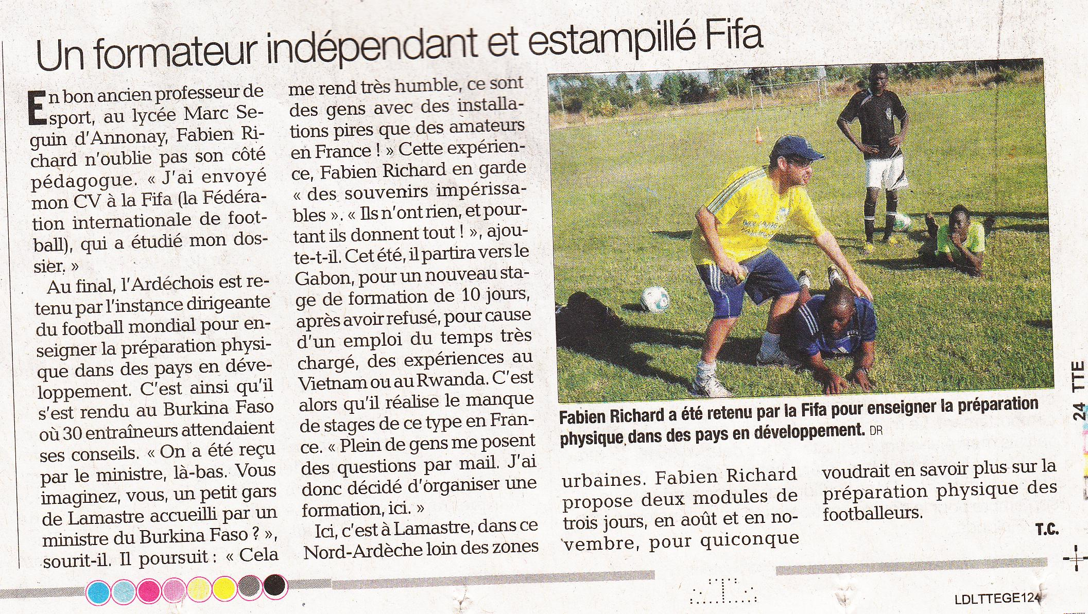 fabien richard formateur foot indépendant label FIFA