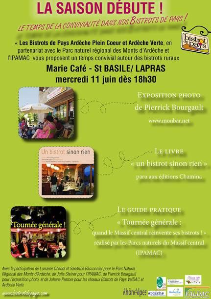 marie cafe lapras saint basile saison 2014