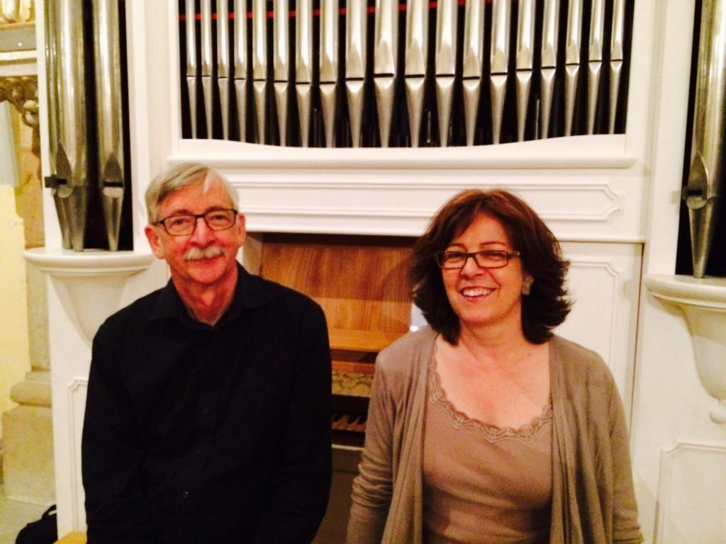 Pierre-André Bovey, professeur de flûte et Catherine Babel, professeure d'orgue