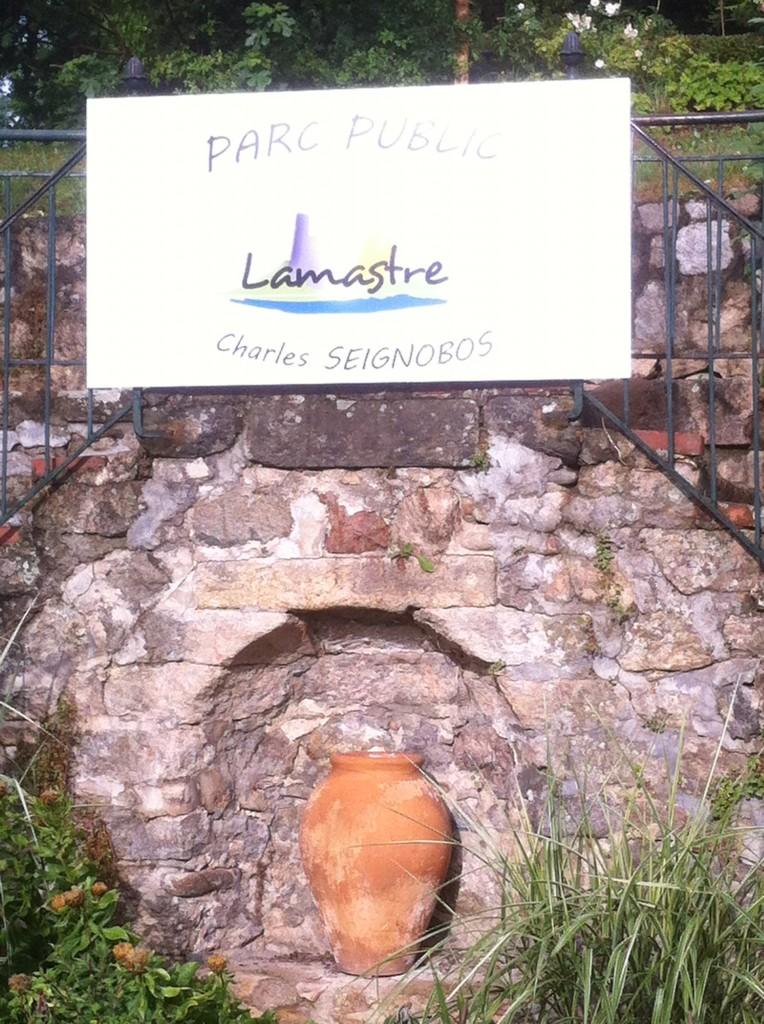 entrée parc seignobos lamastre