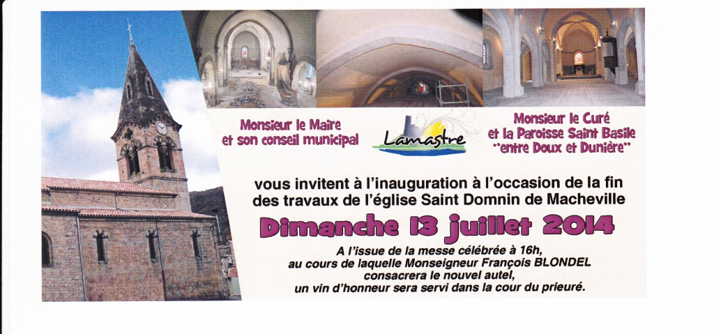 inauguration eglise macheville