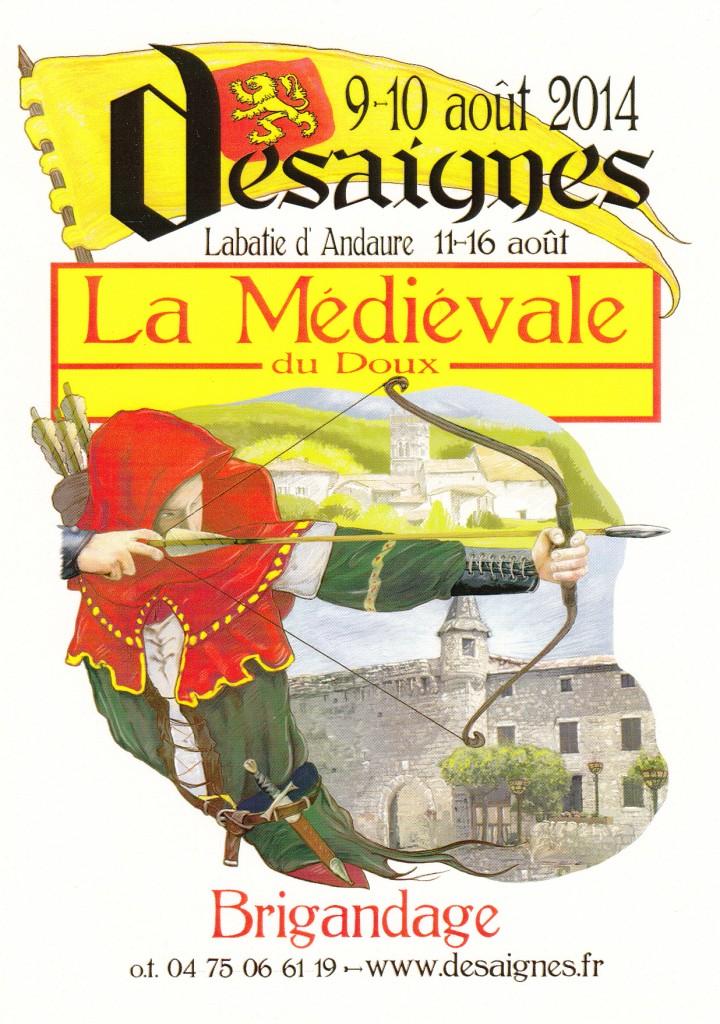 medievale desaignes 2014 carte postale