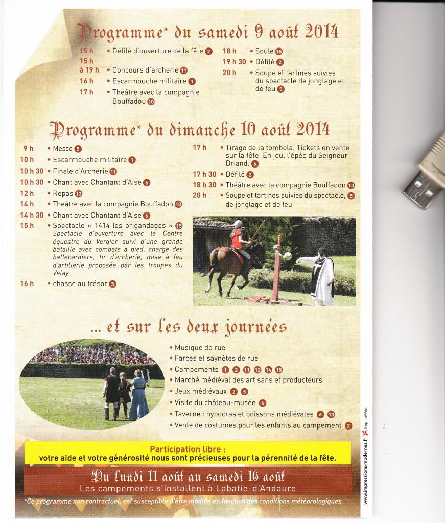 Medievale desaignes 2014 programme 2