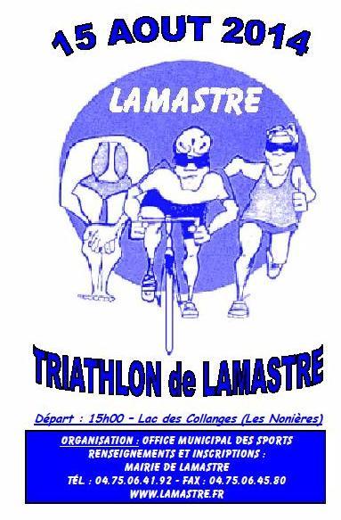 affiche triathlon lamastre 2014